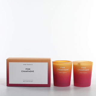 As Simple As Color Collection Pink Champagne Scented Candle Set