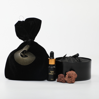 Velvet Collection Black Cedarwood 15ml Essential Oil And 230g Scented Stone
