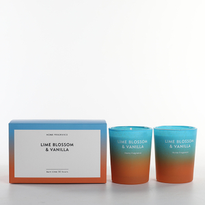 As Simple As Color Collection Lime Blossom & Vanilla 70g*2 Scented Candle