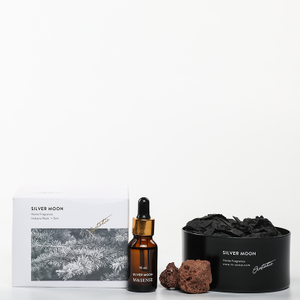 Sound of Wind Collection Sliver moon 15ml Essential Oil and 230g Scented Stone