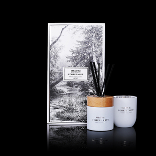 Forest Mist Amber Wood & Spice 250g Scented Candle And 200ml Reed Diffuser Gift Set
