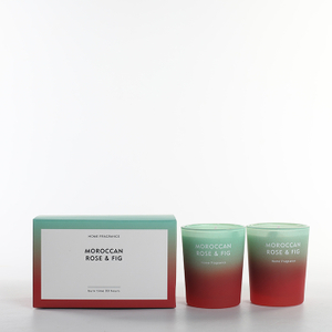 As Simple As Color Collection Moroccan Rose&Fig 70g*2 Scented Candle